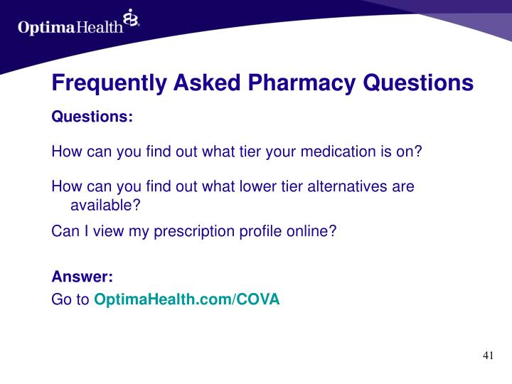 Frequently Asked Pharmacy Questions
