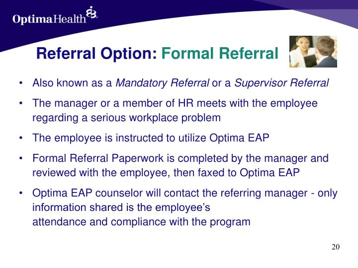 Referral Option: