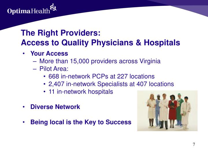 The Right Providers: