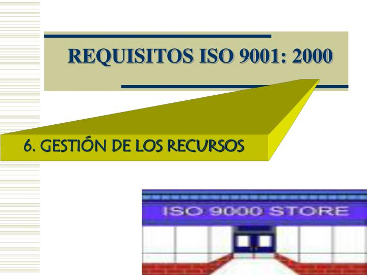 Requisitos iso 9001 2000