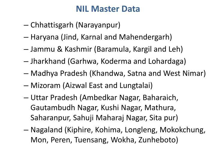 NIL Master Data