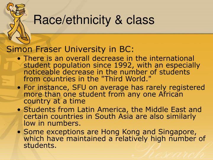 Race/ethnicity & class
