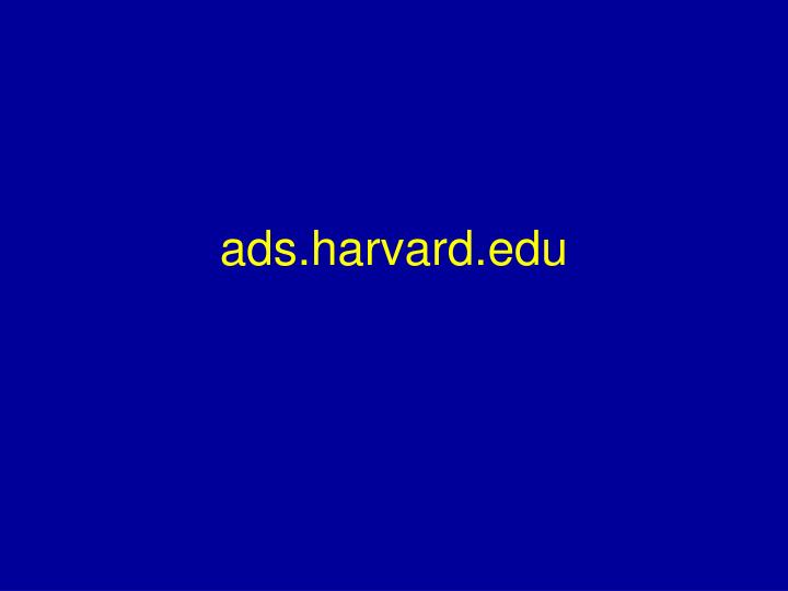 ads.harvard.edu