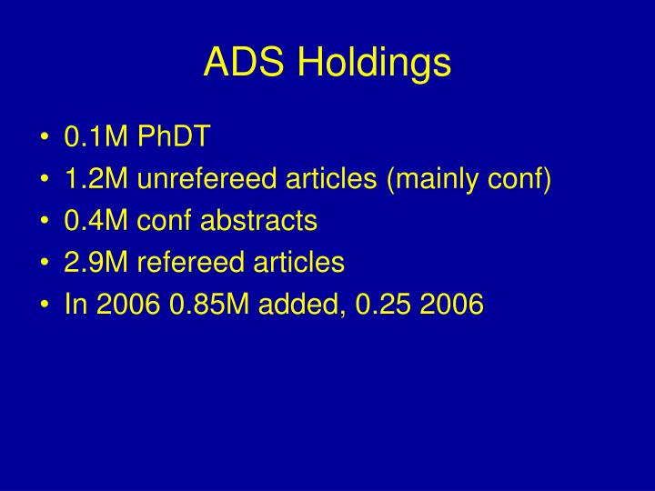 ADS Holdings