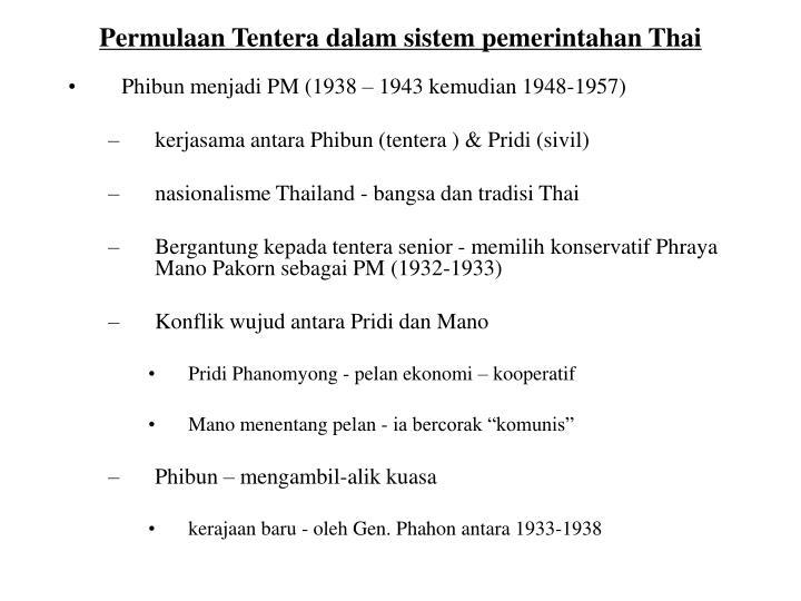 Permulaan Tentera dalam sistem pemerintahan Thai