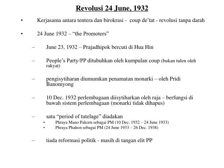Revolusi 24 June, 1932