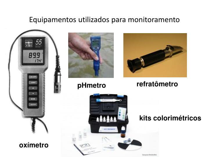 Equipamentos utilizados para monitoramento
