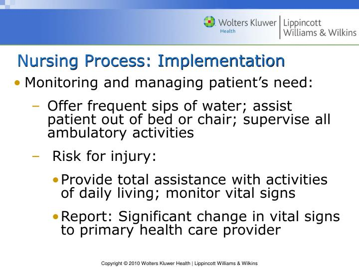 Nursing Process: Implementation