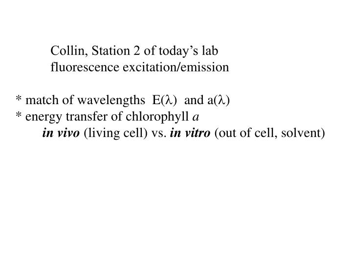 Collin, Station 2 of today's lab