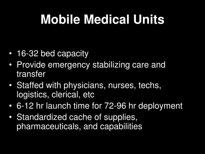 Mobile Medical Units