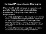 national preparedness strategies