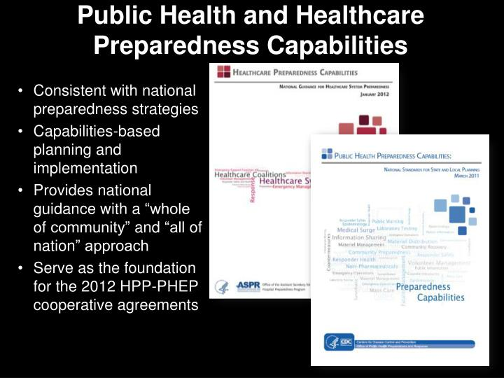 Public Health and Healthcare Preparedness Capabilities