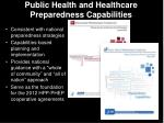 public health and healthcare preparedness capabilities1