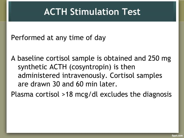 ACTH Stimulation Test