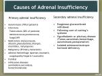causes of adrenal insufficiency