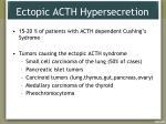 ectopic acth hypersecretion