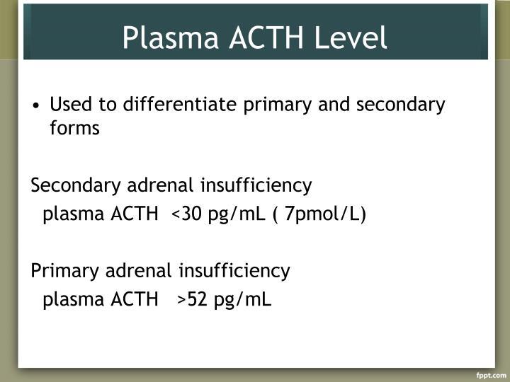 Plasma ACTH Level