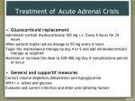 treatment of acute adrenal crisis