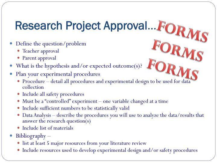 Research Project Approval