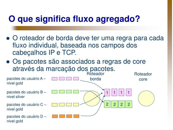 O que significa fluxo agregado?