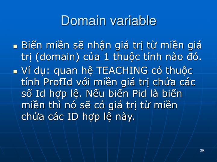 Domain variable