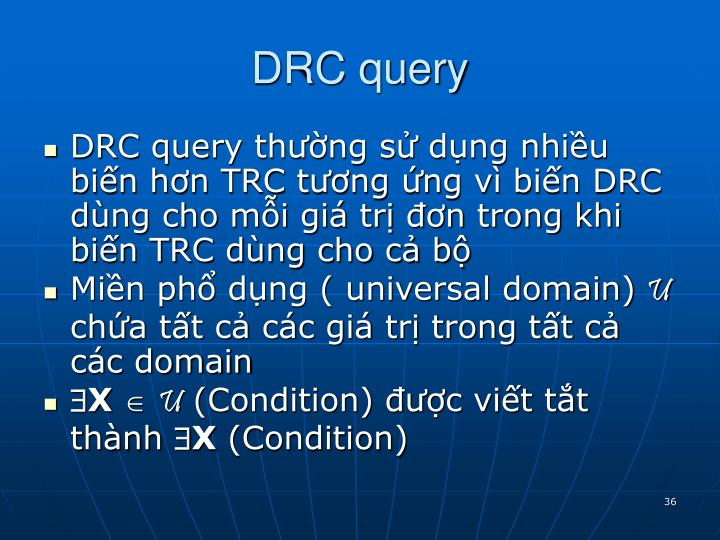 DRC query