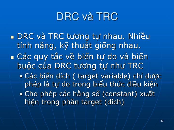 DRC và TRC