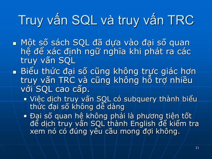 Truy vấn SQL và truy vấn TRC