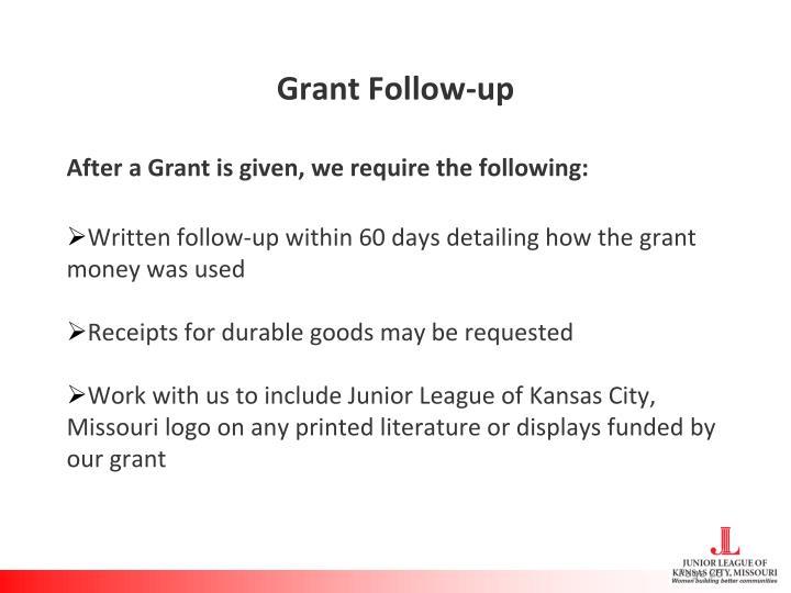 Grant Follow-up