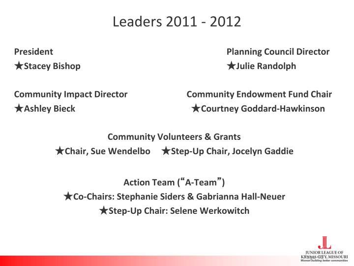 Leaders 2011 - 2012