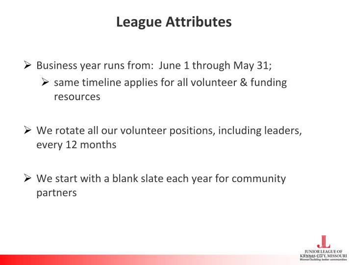 League Attributes