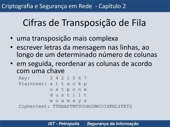 Criptografia e Segurança em Rede  - Capítulo 2