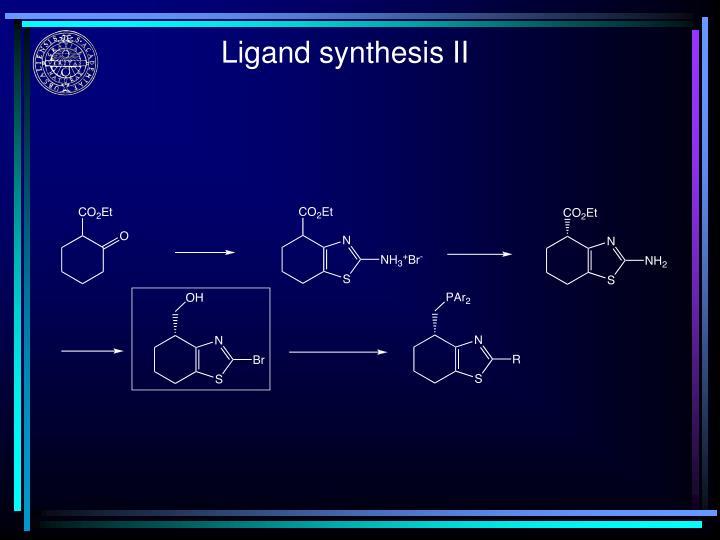 Ligand synthesis II