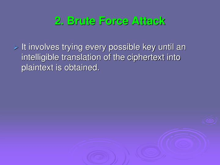 2. Brute Force Attack
