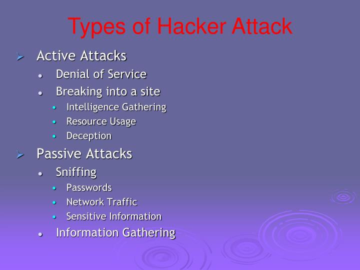 Types of Hacker Attack