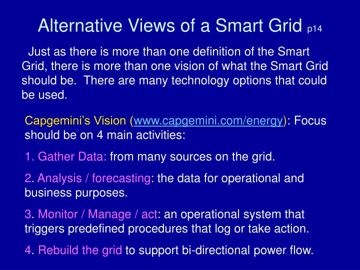 Alternative Views of a Smart Grid