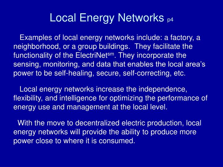 Local Energy Networks