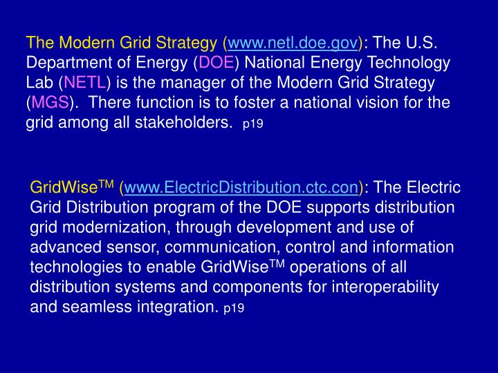 The Modern Grid Strategy (