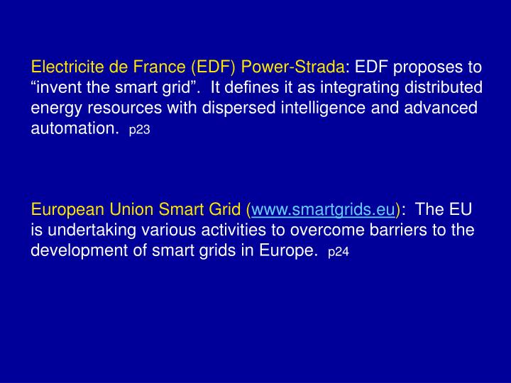 Electricite de France (EDF) Power-Strada