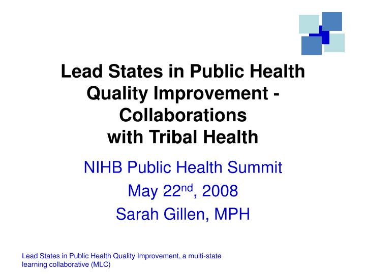 Lead states in public health quality improvement collaborations with tribal health
