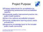 project purpose