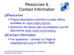 resources contact information