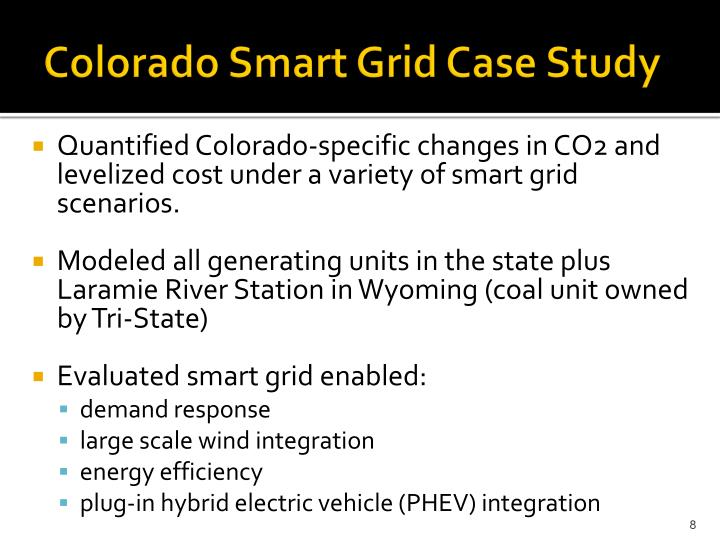 Colorado Smart Grid Case Study