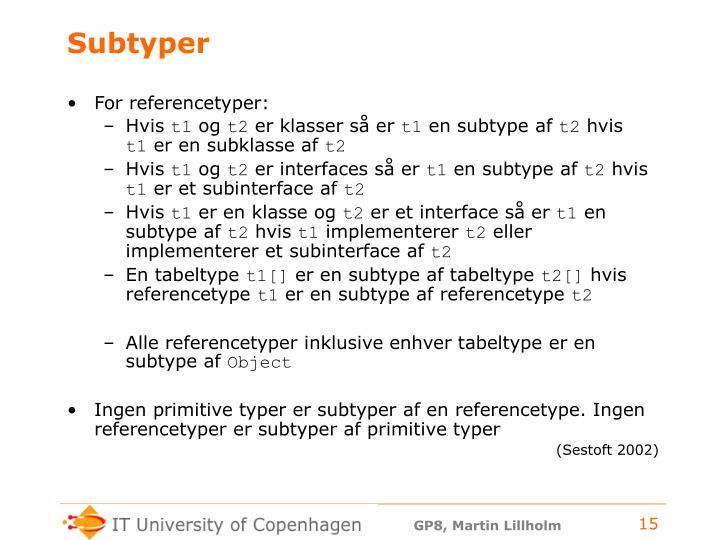 Subtyper
