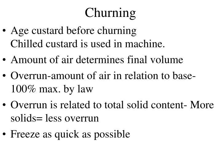 Churning