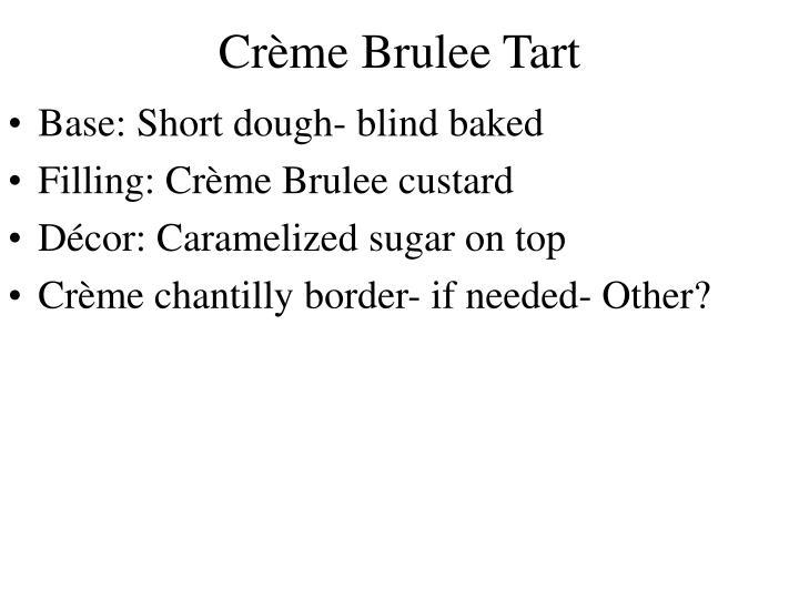 Crème Brulee Tart