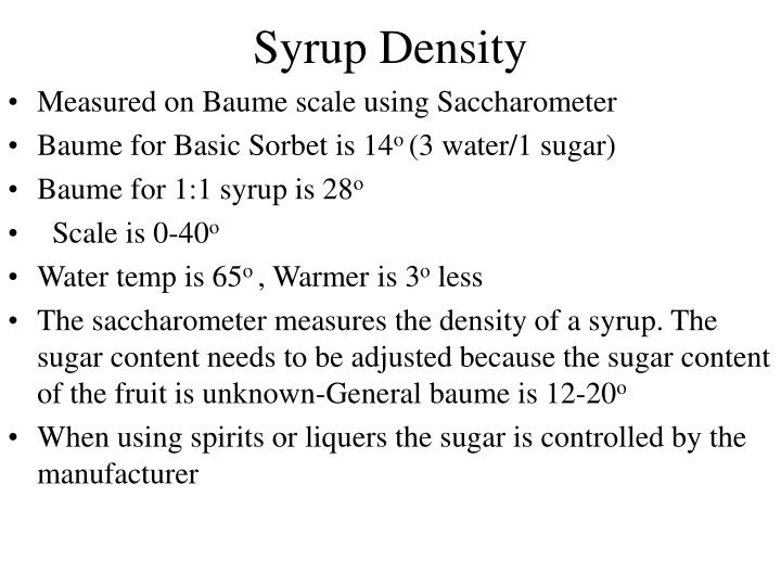 Syrup Density
