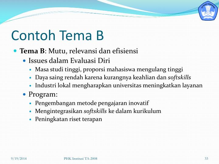 Contoh Tema B