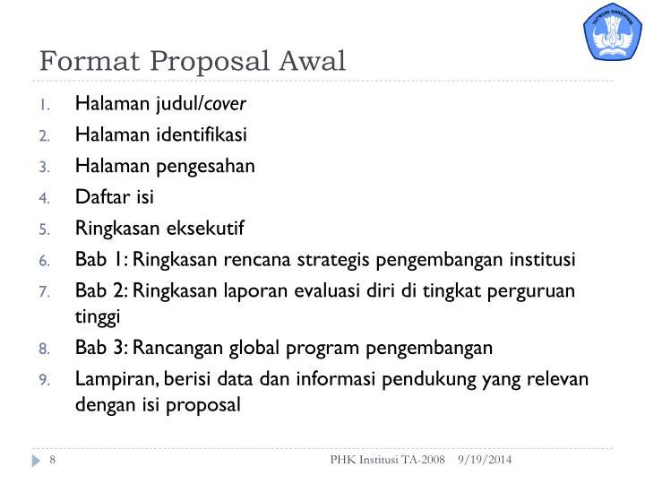 Format Proposal Awal