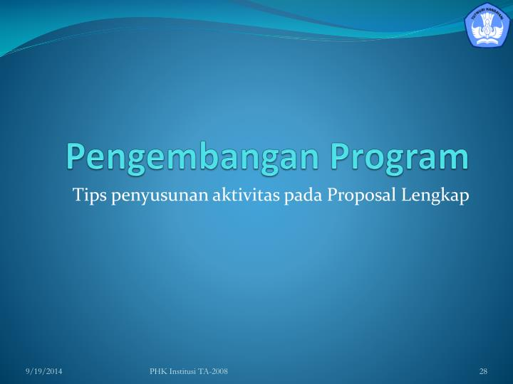 Pengembangan Program
